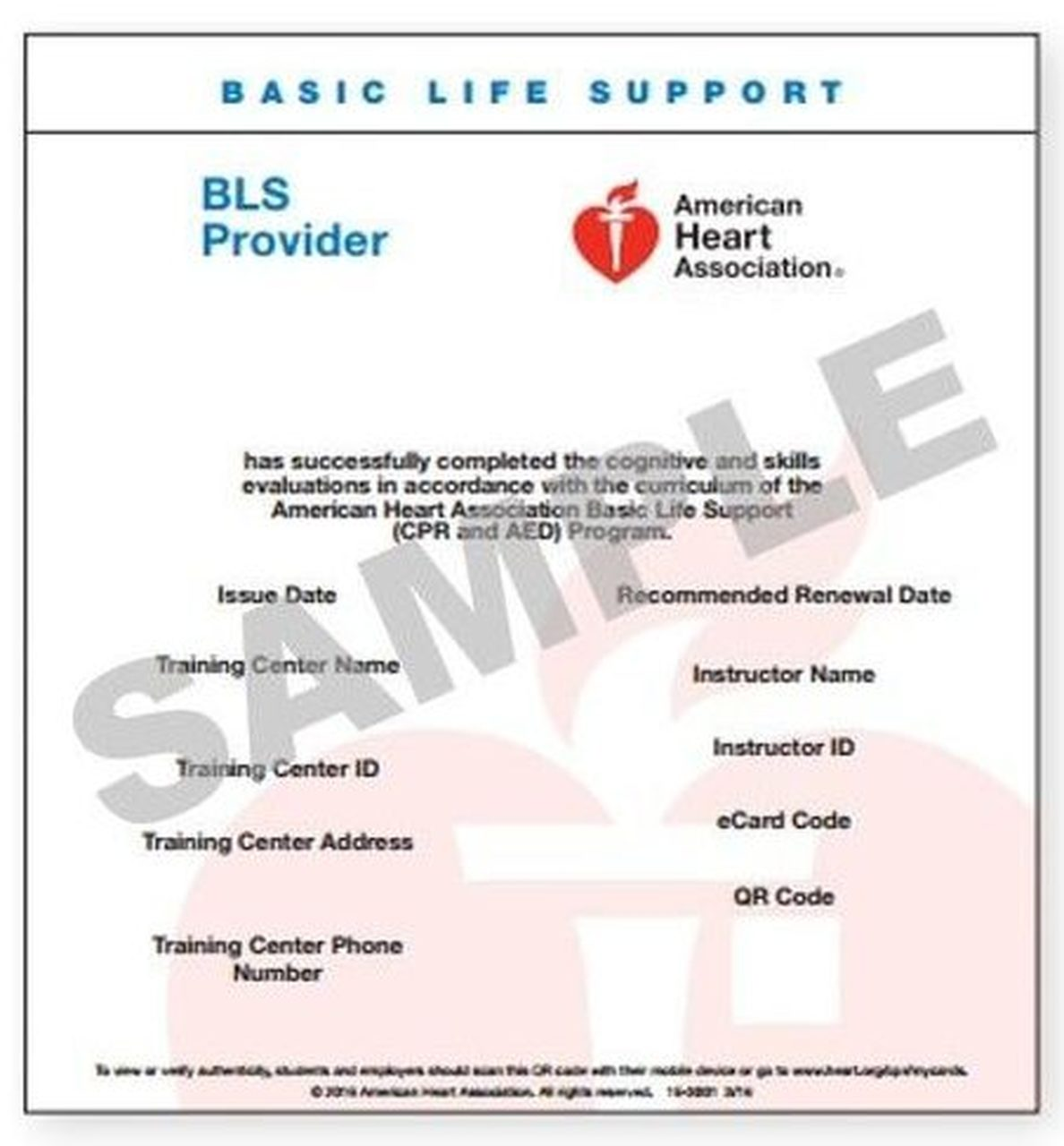 bls aha ecard ecards provider cpr aed certification aid heartcode acls heart